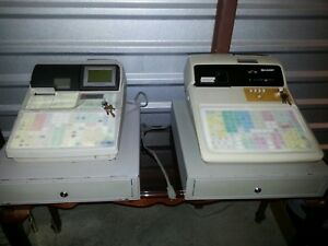 Sharp Cash Registers Up 700 And Er a550s Bundle With Keys And Cash Drawers