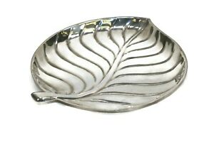 International Silver Plate 8198 Leaf Shape 9 Serving Dish Plated Very Nice
