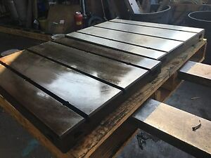 T slot Fixture Steel Table 27 1 2 X 19 1 2 X 2 1 4