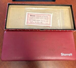 Starrett No 449 Depth Gauge Complete Set Micrometer Machinist Tool 449az 3r