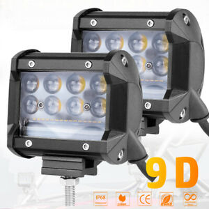 2x 4 380w Cree Side Shooter Pods Led Light Bar Spot Flood Driving Off Road Atv
