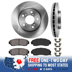 Front Rotors And Ceramic Pads For 2005 2006 2007 2008 2009 2010 Honda Odyssey