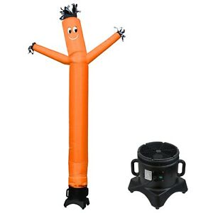 Mounto 10ft Orange Air Wind Inflatable Dancing Sky Puppet Dancer With Blower