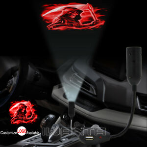 Red Reaper Logo With Usb Car Cigarette Lighter Led Laser Projector Shadow Light