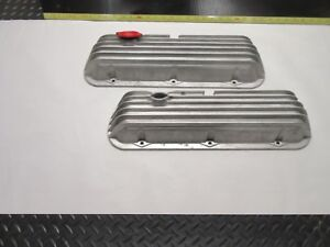 Vintage Cal Custom Valve Cover For Ford 302 289 351w Sbf Pair Nice Finned