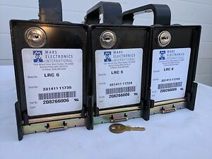 3 Used Mars Cash Vault Box Bill Cassettes Lrc6 For Bill Acceptor Gas Pumps