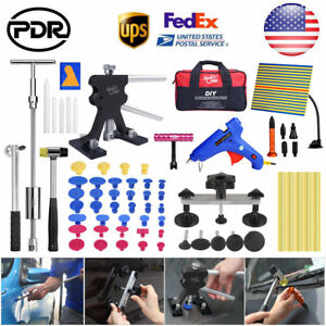 70pc Us Pdr Tools Paintless Dent Repair Removal Puller Dent Lifter Slide Hammer