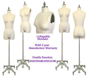 Professional Dress Form For Female W Hip And Collapsible Shoulders 601a Size 2