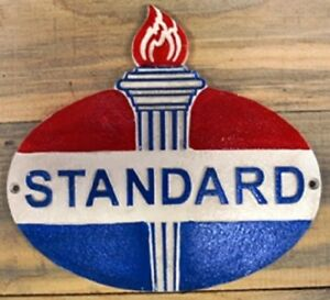 Vintage Style Standard Oil Signs Cast Iron Gas Station Garage Man Cave