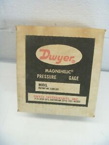 Dwyer Magnehelic Pressure Gauge 2010 Inches Of Water 0 10