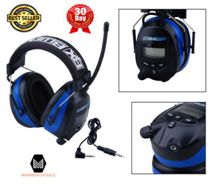 Digital Ear Muffs Am Fm Radio Audio Input Hearing Protection Noise Reduction New