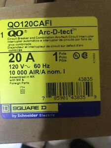 New Lot Of 10 Qty Square D Qo120cafi Combination Arc fault Breaker
