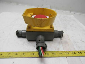Rees 04948 002 2 1 4 Red Mushroom Plunger Switch Guarded
