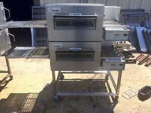 Lincoln Impinger 1132 Commercial Electric Double Stack Conveyor Oven 1