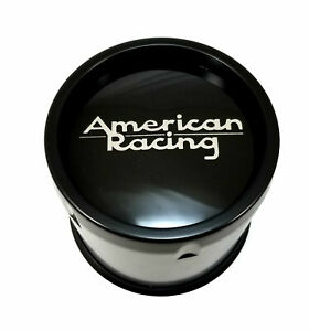 American Racing Black Center Cap 8l Ar901 Ar923 Mod 12 Ar172 Baja Ar767 Ar910