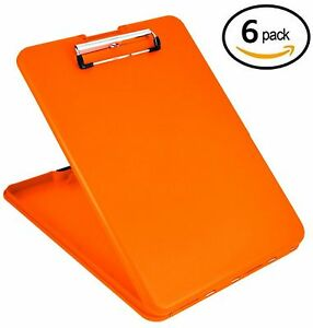 Value Pack Of 6 Saunders Slimmate Plastic Storage Clipboards Letter Size