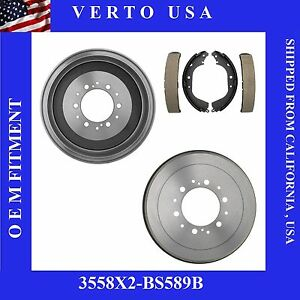 Brake Drums Shoes For Toyota 4runner Pickup T100 Tacoma Tundra
