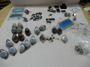 Huge Lot Of 50 Or So Transistors Irf 450 4 Mj1001 4 2n3055 Rfp10n15 6 More