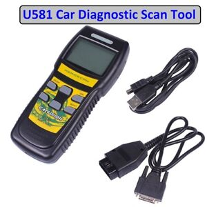 Obd2 Diagnostic Scanner Car Engine Fault Auto Code Reader Can Bus Scan Tool U581