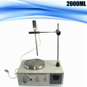 Magnetic Stirrer 85 2 With Heating Plate Digital Hotplate Mixer Stir Bar 1000ml