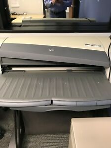 Hp Designjet 110 Plotter printer Slightly Used Extra Ink Paper Included 63146