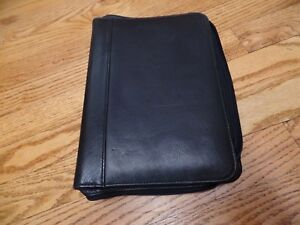 Wilsons Leather Planner Removable Binder Organizer Black 3 Rings 1 Vguc