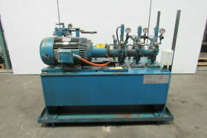 15hp 100 Gal Hydraulic Power Unit W Triple Stack Pumps 460v 3ph