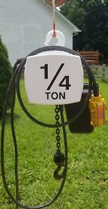 Coffing 1 4 Ton Electric Chain Hoist 115 230 Volts Single Phase