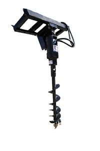 Tool tuff Earth Ogre 420 Hydraulic Post Hole Digger For Skid Steer 1 Auger Comb