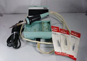 Vintage Weller Wtcpn Soldering Station With Soldering Iron Pencil Plus 3 Tips
