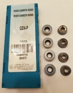 8 Pcs Ingersoll Cutting Tools Rhkw1204motn In2005 5805732 Lathe Carbide Inserts
