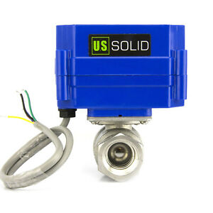 3 4 Stainless Steel Motorized Electrical Ball Valve 9 24v Dc 5 Wire Setup