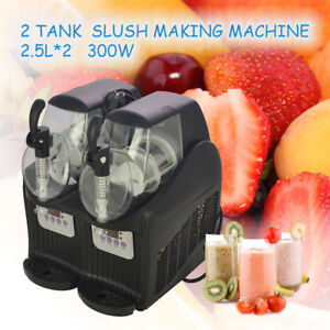 300w 2 5l 2 Mini Margarita Slush Frozen Drink Machine Slushy Making Machine