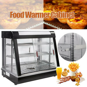 Us Commercial Food Warmer Court Heat Food Pizza Display Warmer Cabinet 27 glass