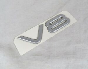 99 04 Jeep Grand Cherokee V8 Emblem Back Hatch New Oem Silver Badge Symbol Sign