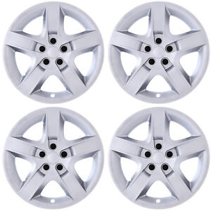 4pc Hub Caps Fits Saturn Aura Chevy Malibu Pontiac G6 17 Silver Wheel Covers