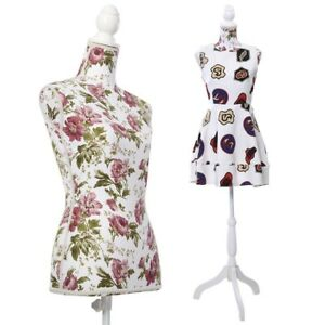 34 Bust Female Mannequin Best Torso Dress Form Display White Tripod Stand Rose