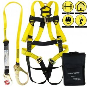 2pcs Roof Safety Harness Tree Climbing Fall Protection Construction Kit Hook L x