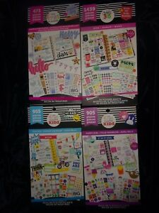 Lot Of 4 New Create 365 Happy Planner Sticker Books Mom kid Fun girls glitter