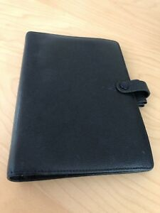 Filofax Personal Navy Blue Piccadilly Leather Organizer retired
