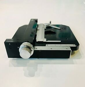 1 Each Olympus Kh Series Microscope Xy Mechanical Stage With Specimen Holder Vgc