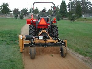 Harley Power Landscape Rake For Tractors 3 Point Hitch 6 Wide Hydraulic Angle