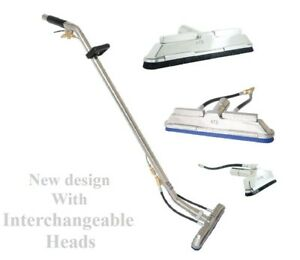 Tile And Grout Cleaning Wand W Interchangeable Brush Squeegee Heads