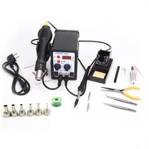 Gun Soldering Station Solder Iron Desoldering heating Core tin Wire 6pcs Nozzle