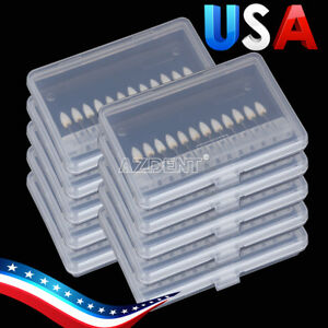 20x Dental Polishing Burs 12pcs pack Flame Mounted White Stone Abrasion Point Fg