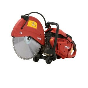 Hand Held Saw Isolated Handles Cutting Brick Concrete Block Wall Openings Red