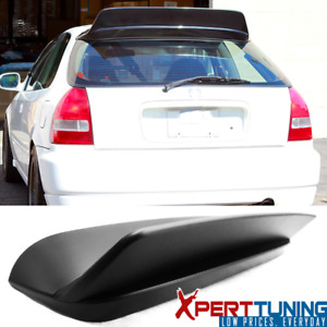 Fits 96 00 Honda Civic 3dr Hb Hatchback Bys Style Matte Black Roof Spoiler Wing