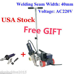 Usa Stock 220v Weldy Roofer Rw3400 Hot Air Welder 40mm Nozzle gift Free Gun