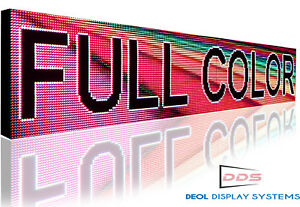 Digital Outdoor Led Sign Full Color 10mm Hd 20 X 63 Image Open Message Display
