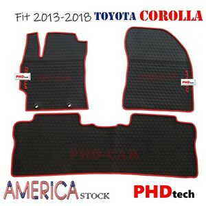 Premium Quality All Weather Floor Mats For Toyota Corolla 2013 2018 Tailored